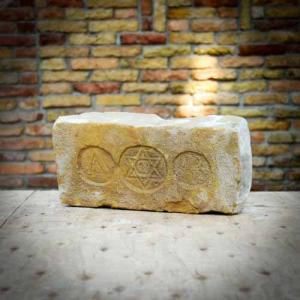 A.B. Dávid csillagos címeres antik tégla