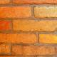 Nagyméretű bontott tégla, külső/szélső szelet sárgás, mediterrán színben