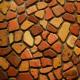 Felületkezelt egyedi antikolt dekortégla-mozaik